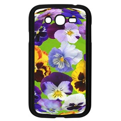 Spring Pansy Blossom Bloom Plant Samsung Galaxy Grand Duos I9082 Case (black)