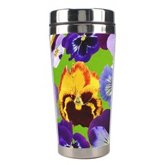 Spring Pansy Blossom Bloom Plant Stainless Steel Travel Tumblers