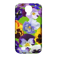 Spring Pansy Blossom Bloom Plant Samsung Galaxy S4 Classic Hardshell Case (PC+Silicone)