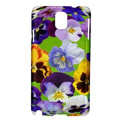 Spring Pansy Blossom Bloom Plant Samsung Galaxy Note 3 N9005 Hardshell Case