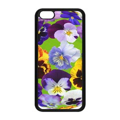 Spring Pansy Blossom Bloom Plant Apple iPhone 5C Seamless Case (Black)