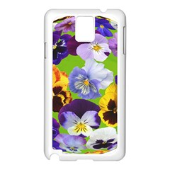 Spring Pansy Blossom Bloom Plant Samsung Galaxy Note 3 N9005 Case (White)