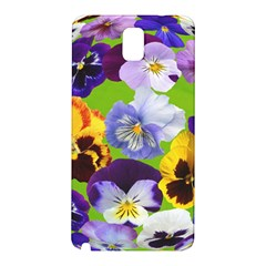 Spring Pansy Blossom Bloom Plant Samsung Galaxy Note 3 N9005 Hardshell Back Case