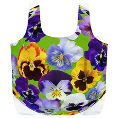 Spring Pansy Blossom Bloom Plant Full Print Recycle Bags (l)