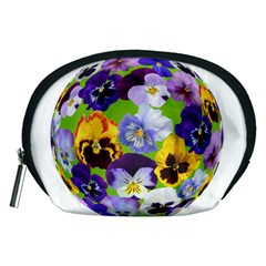Spring Pansy Blossom Bloom Plant Accessory Pouches (Medium)