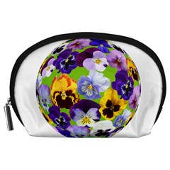 Spring Pansy Blossom Bloom Plant Accessory Pouches (Large)