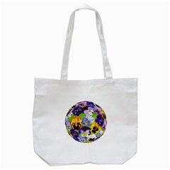 Spring Pansy Blossom Bloom Plant Tote Bag (White)