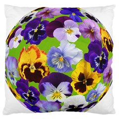 Spring Pansy Blossom Bloom Plant Large Flano Cushion Case (Two Sides)