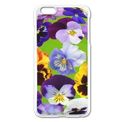 Spring Pansy Blossom Bloom Plant Apple Iphone 6 Plus/6s Plus Enamel White Case