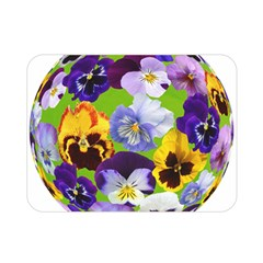 Spring Pansy Blossom Bloom Plant Double Sided Flano Blanket (Mini)