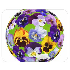 Spring Pansy Blossom Bloom Plant Double Sided Flano Blanket (medium)