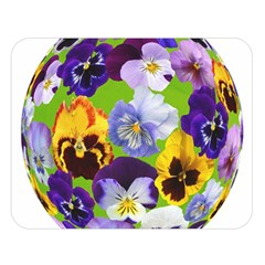 Spring Pansy Blossom Bloom Plant Double Sided Flano Blanket (large)