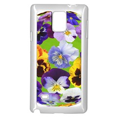 Spring Pansy Blossom Bloom Plant Samsung Galaxy Note 4 Case (White)