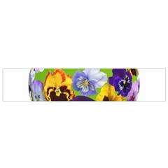 Spring Pansy Blossom Bloom Plant Flano Scarf (small)
