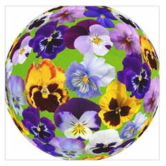 Spring Pansy Blossom Bloom Plant Large Satin Scarf (Square)