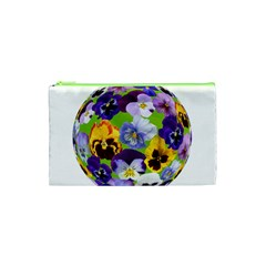 Spring Pansy Blossom Bloom Plant Cosmetic Bag (xs)