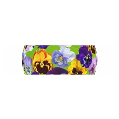 Spring Pansy Blossom Bloom Plant Satin Scarf (oblong)