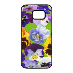 Spring Pansy Blossom Bloom Plant Samsung Galaxy S7 Edge Black Seamless Case