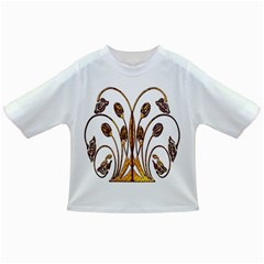 Scroll Gold Floral Design Infant/toddler T Shirts