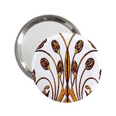 Scroll Gold Floral Design 2.25  Handbag Mirrors