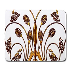 Scroll Gold Floral Design Large Mousepads