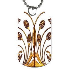 Scroll Gold Floral Design Dog Tag (two Sides)