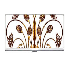 Scroll Gold Floral Design Business Card Holders