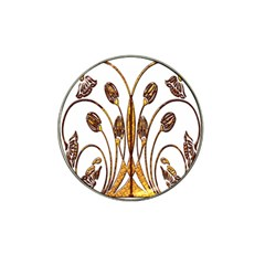 Scroll Gold Floral Design Hat Clip Ball Marker