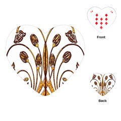Scroll Gold Floral Design Playing Cards (heart)
