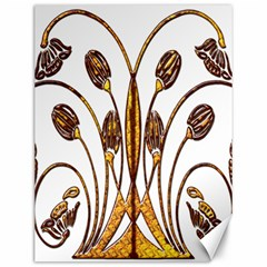 Scroll Gold Floral Design Canvas 12  X 16