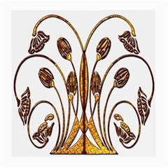 Scroll Gold Floral Design Medium Glasses Cloth (2-Side)