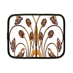 Scroll Gold Floral Design Netbook Case (Small)