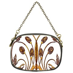 Scroll Gold Floral Design Chain Purses (one Side)
