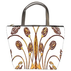 Scroll Gold Floral Design Bucket Bags
