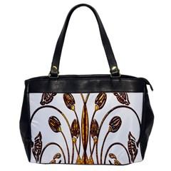 Scroll Gold Floral Design Office Handbags