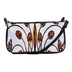 Scroll Gold Floral Design Shoulder Clutch Bags