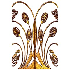 Scroll Gold Floral Design 5 5  X 8 5  Notebooks