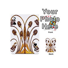 Scroll Gold Floral Design Playing Cards 54 (Mini)