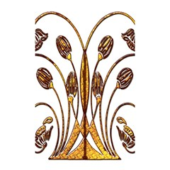 Scroll Gold Floral Design Shower Curtain 48  x 72  (Small)