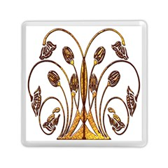 Scroll Gold Floral Design Memory Card Reader (square)
