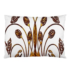Scroll Gold Floral Design Pillow Case (Two Sides)