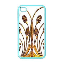 Scroll Gold Floral Design Apple iPhone 4 Case (Color)