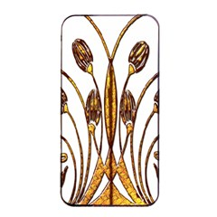 Scroll Gold Floral Design Apple iPhone 4/4s Seamless Case (Black)