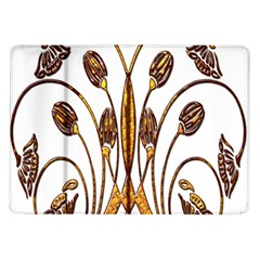 Scroll Gold Floral Design Samsung Galaxy Tab 10.1  P7500 Flip Case