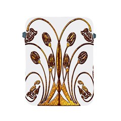 Scroll Gold Floral Design Apple Ipad 2/3/4 Protective Soft Cases