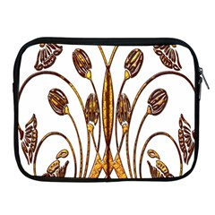 Scroll Gold Floral Design Apple iPad 2/3/4 Zipper Cases