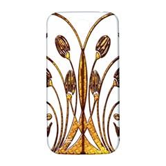 Scroll Gold Floral Design Samsung Galaxy S4 I9500/I9505  Hardshell Back Case