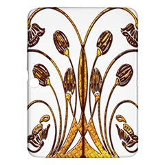 Scroll Gold Floral Design Samsung Galaxy Tab 3 (10 1 ) P5200 Hardshell Case