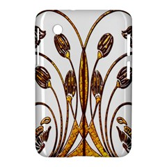 Scroll Gold Floral Design Samsung Galaxy Tab 2 (7 ) P3100 Hardshell Case