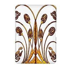 Scroll Gold Floral Design Samsung Galaxy Tab 2 (10.1 ) P5100 Hardshell Case
